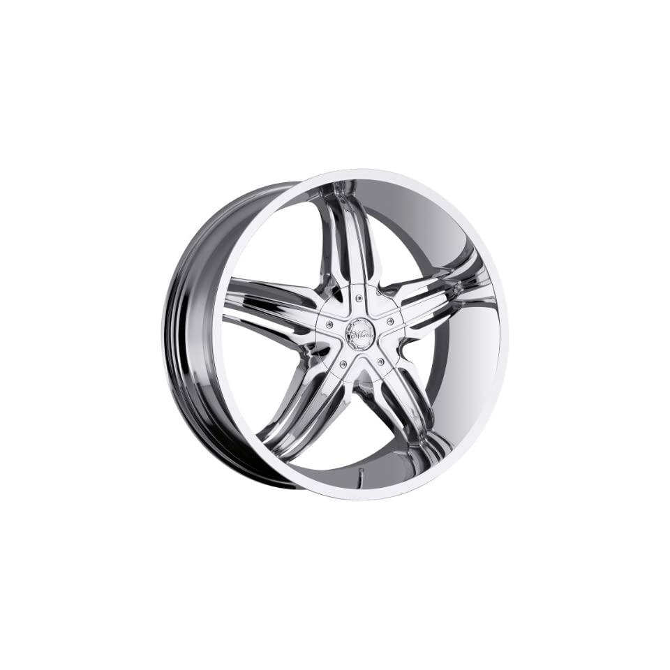 Milanni Phoenix 28 Chrome Wheel / Rim 8x6.5 with a 10mm Offset and a 130.8 Hub Bore. Partnumber 458 28981C10 Automotive