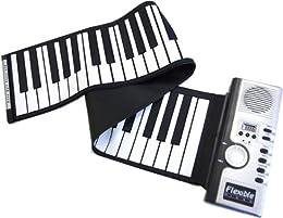 くるくる巻けてコンパクト!持ち運びロールピアノ◇FS-SP061