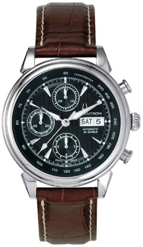 Accutron Men's 26C02 Gemini Automatic Chronograph Leather Watch
