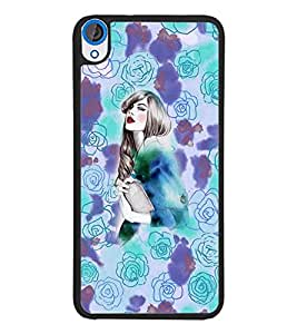PrintDhaba Fantasy Girl D-5890 Back Case Cover for HTC DESIRE 820 (Multi-Coloured)