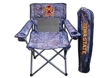 Rivalry Team Logo Camping Picnic Iowa State Realtree Camo Chair