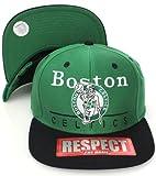 Boston Celtics Flat Visor Twill Style Snapback Hat Cap Green Black [Apparel]