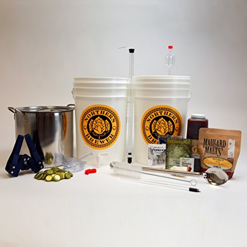 Brew. Share. Enjoy. Homebrew Beer Brewing Starter Kit with Block Party Amber Ale (Beer Making Spoon compare prices)