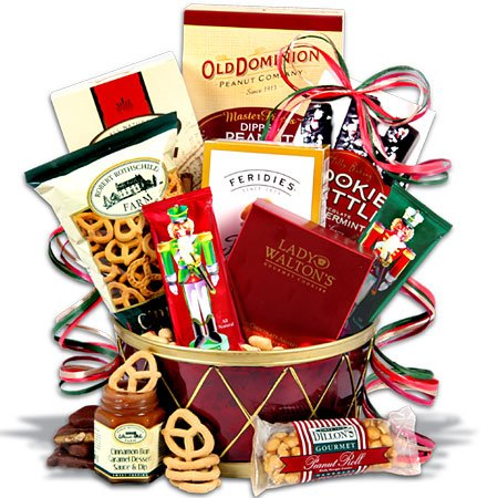 Nutcracker Drum Christmas Gift Basket