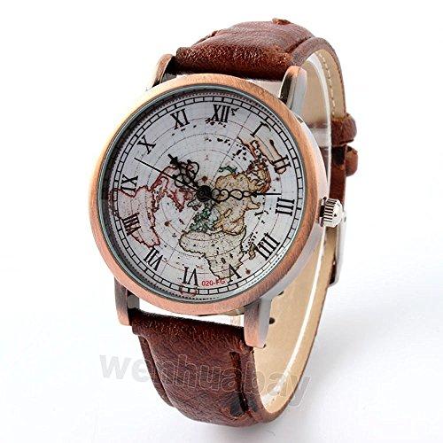 vear-orologio-donna-retro-drvear-mappa-del-mondo-con-numeri-romani-orologio-al-quarzo-marrone-scuro-