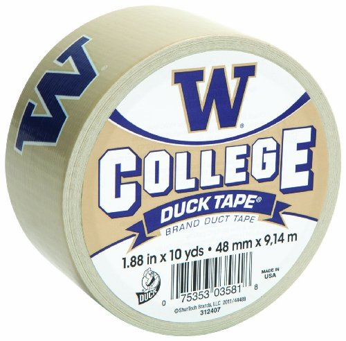Duck Brand 240062 1.88-Inch x 10 -Yard University of Washington College Logo Duck Tape