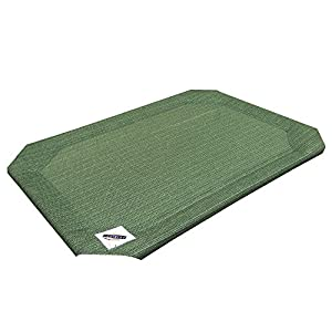 Coolaroo Elevated Pet Bed Replacement Cover, Medium, Green