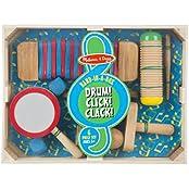 Melissa & Doug Band-in-a-Box Drum! Click! Clack!