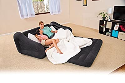 Intex Queen Inflatable 2-In-1 Pull-Out Sofa And Air Mattress Sleeper | 68566EP