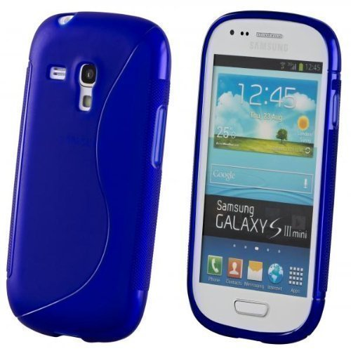 ECENCE Samsung Galaxy S3 mini i8190 Silikon TPU case schutz hülle handy tasche cover schale blau 12040301
