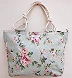 Designer Floral Canvas Large Holiday Tote Bag