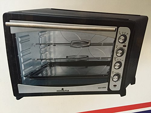 KODAMA 91 Litre Large Capacity 2800W Counter Top Electric Oven & Grill with Double Rotisserie, Baking Tray, Wire Rack - Rotisserie Set Included!