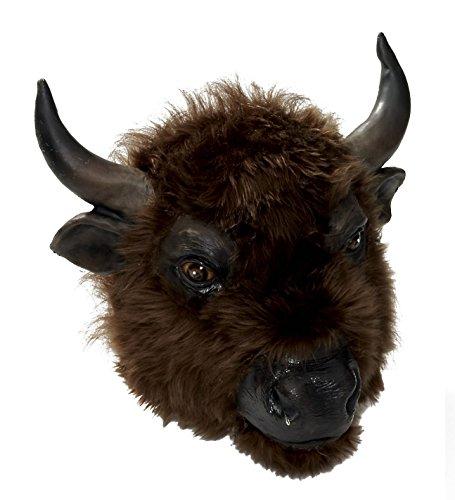 Forum Novelties Men's Buffalo Latex Mask, Brown, One Size