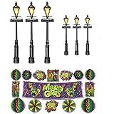 Mardi Gras Decor & Street Light Props Assortment 8in.- 46in.
