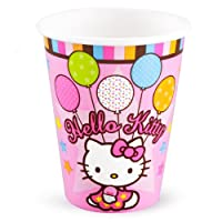Amscan Hello Kitty Balloon Dreams 9-Ounce Paper Cups, 8-Count by Amscan