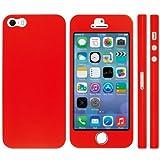 NanoSkin ナノスキン iPhone5s/5 フルカバーケース 全17色 赤色 ホームボタン穴あきタイプ (TouchID対応)