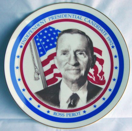 Ross Perot Independent Party Nominee 1992 Presidential Election Limited Edition Royal Windsor Commemorative Plate New In Original Box