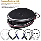Smatree-Bluetooth-Headphone-Power-Case-S100-PU-Leather-Compact-case-with-Built-in-power-bank-1000mAH-for-LG-Electronics-Tone-HBS-700WHBS-730HBS-750HBS-760HBS-800HBS-900-Bluetooth-headphones