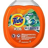 61-Coun Tide Pods Plus Febreze He Turbo Laundry Detergent Pacs Tub (Botanical Rain)