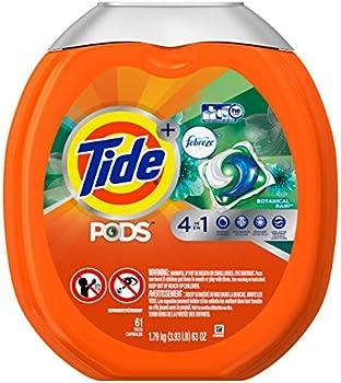 61-Coun Tide Pods Plus Febreze Laundry Detergent Pacs