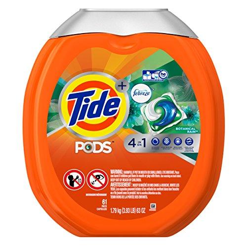 Tide Pods Plus Febreze He Turbo Laundry Detergent Pacs Tub, Botanical Rain, 61 Count (Spring Rain compare prices)