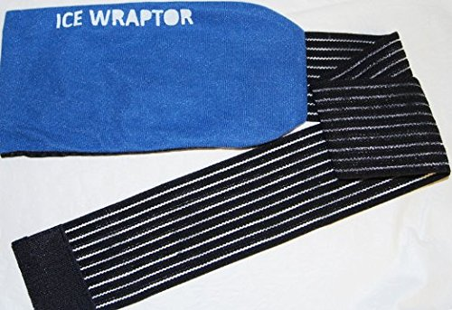 Ice Wraptor Ice Wrap / Cold Wrap can hold ANY ice and gel pack up to 5 x 10 inches - Wraps around any body part from small joints to knees, backs, and shoulders - Ice Pack NOT Included (Ice Pack Sleeve compare prices)