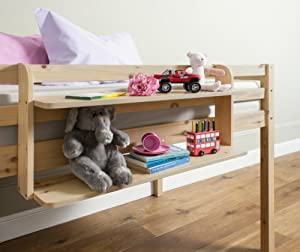 Cabin Bed Double Shelf Multi Purpose shelf ideal for Midsleepers PINE