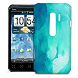 Phone Case For HTC EVO 3D - Blue Abstract Watercolor Designer Cover