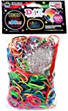 Loom Bandz 600 Neon Rainbow Rubber Bands with 'S' Clips