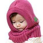 Zehui Baby Girls Knit Crochet Winter...