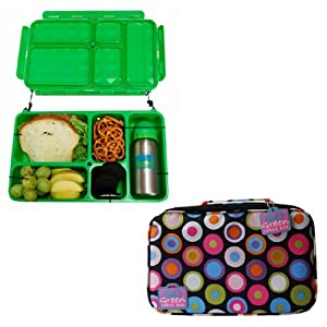 go green bento lunchbox system childrens lunch boxes kitchen dining. Black Bedroom Furniture Sets. Home Design Ideas