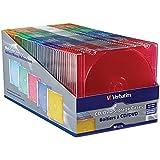 2 X Verbatim Slim CD and DVD Storage Cases - 50 Pack - 5 Assorted Colors 94178