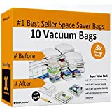 Home-Complete Space Saver Bags for Vacuum Storage Bags - 10 Space Saver Bags