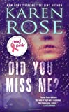 Karen Rose Read Pink Did You Miss Me?