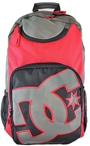 DC Shoes Mens PR Backpack Black Red One Size