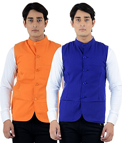 American-Elm Men's Multicolor Summer Modi Jacket- Pack of 2