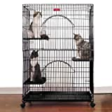 ProSelect Wire Foldable Cat Cage, Black