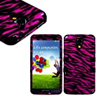 myLife (TM) Black - Pink Zebra Stripe Design (3 Piece Hybrid) Hard and Soft Case for the Samsung Galaxy S4 Fits Models: I9500, I9505, SPH-L720, Galaxy S IV, SGH-I337, SCH-I545, SGH-M919, SCH-R970 and Galaxy S4 LTE-A Touch Phone (Fitted Front and Back Solid Cover Case + Internal Silicone Gel Rubberized Tough Armor Skin + Lifetime Warranty + Sealed Inside myLife Authorized Packaging) ADDITIONAL DETAILS: This three layer Galaxy S4 armor skin gel fit together case is made of grip easy smooth silicone and hardshell plates that slide in to your pocket easily yet won't slip out of your hand