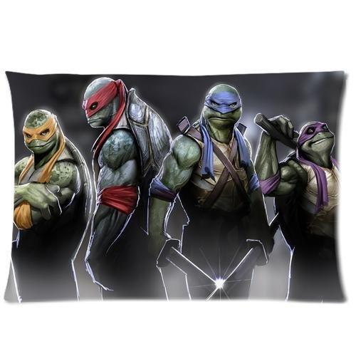 Generic Custom Teenage Mutant Ninja Turtles Printed Zippered Pillowcase Cushion Cover 20*30(Twin Sides) front-986326