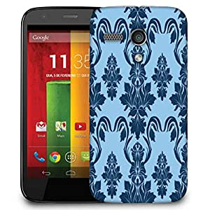Snoogg Blue Abstract Pattern Designer Protective Phone Back Case Cover For Motorola G / Moto G
