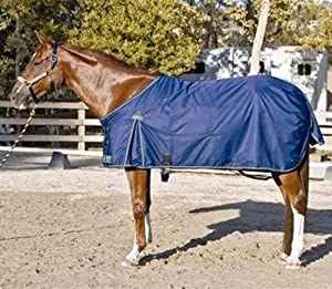 Kensington KPP Roustabout Standard WT Traditional Cut Turnout Blanket, Navy, 76