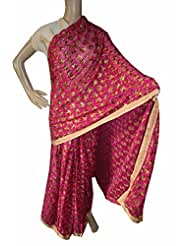 Beautiful RUDA Designer Phulkari Embroidered Saree-JS1106