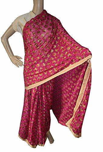 Beautiful RUDA Designer Phulkari Embroidered Saree-JS1106