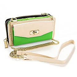 Vangoddy Cream & Lime Womens Venice Wallet Case for Samsung Galaxy S5, Active, Sport