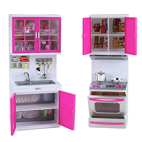 My modern kitchen mini toy playset w lights and sounds for Kitchen set toys amazon