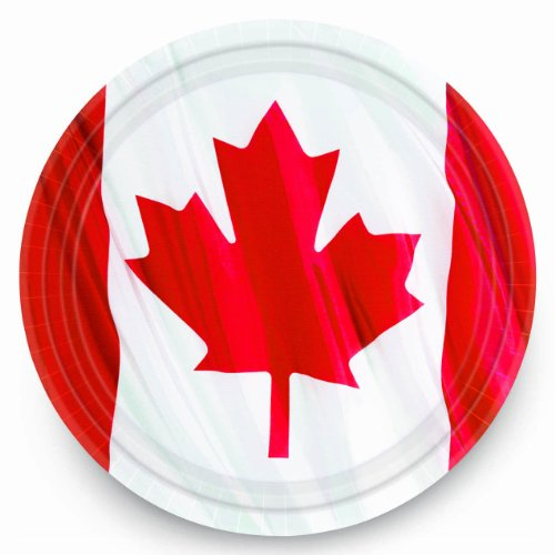 "Online Stores, Inc. Canadian Plates 9"" Package Of 10 - 1"
