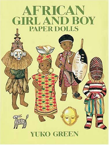 African-Girl-and-Boy-Paper-Dolls-Dover-Paper-Dolls