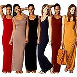 Fashion Women Sleeveless Casual Maxi Tank Dress Plus Size S M L XL XXL