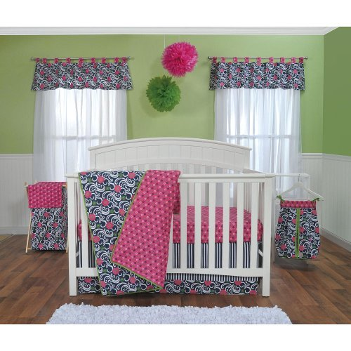 Navy And White Baby Bedding 2922 front