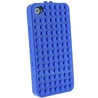 [SoftBank/au iPhone 4S/4専用]SmallWorks/スモールワークス BrickCase ハードケース (Blue/ブルー)
